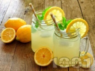 Рецепта Ябълкова лимонада с ванилов сироп, лимонов сок и газирана вода